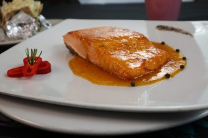 Filete de Salmón en Salsa Mandarina